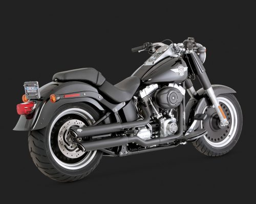 Twin Slash 3 pulgadas Slip-ons Softail Black
