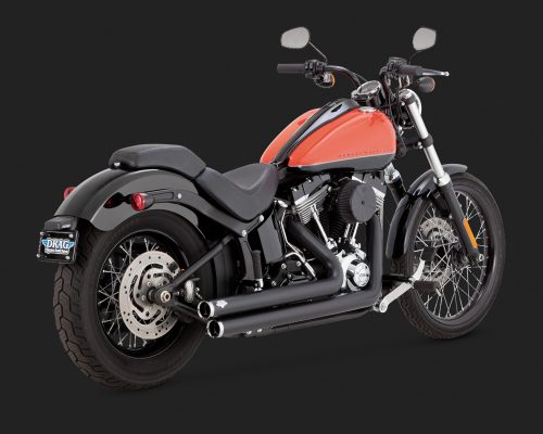Big Shot Staggered - Softail Black